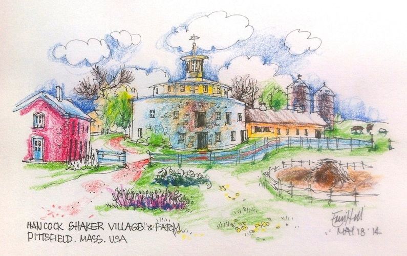 Sketched on location at Shaker Village