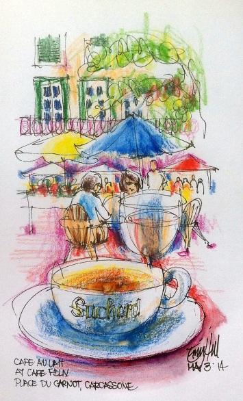 Sketched while having cafe au lait