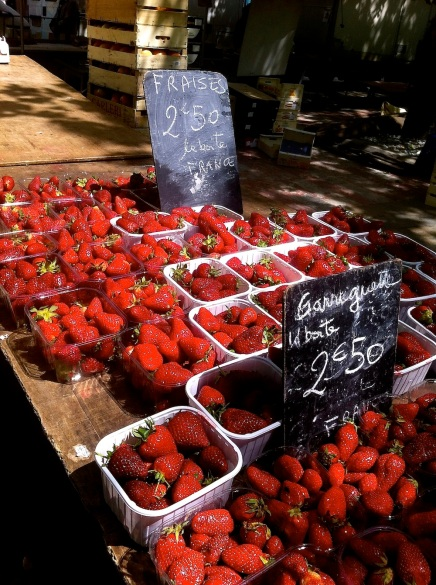Strawberries at the Carcassonne Market