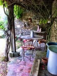 Under the Wisteria. Summer Kitchen Garden