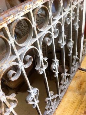 Upstairs iron railing in Salon Granache