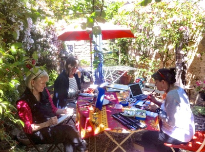 Sketching in the garden, Trausse South of France120