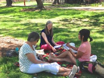 St Leonards Park. The yoga sketchersage 4