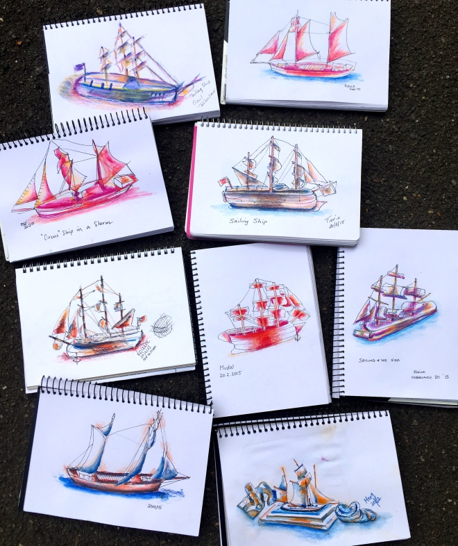Friday Ship Sketches