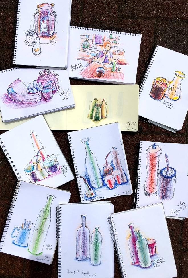 Saturday Cafe Sketches