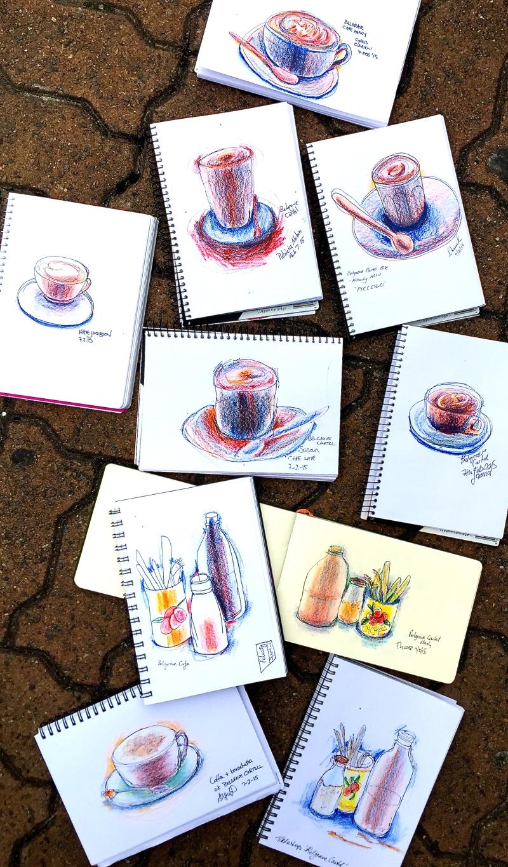Saturday Cafe sketching Belgrave Cartel
