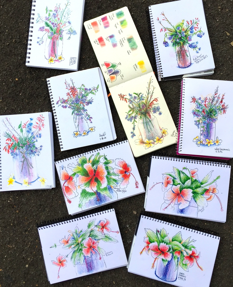 Saturday Floral Sketches