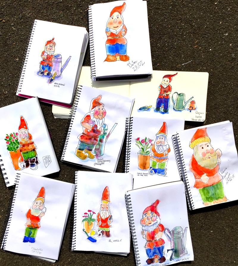 Saturday Gnome sketches