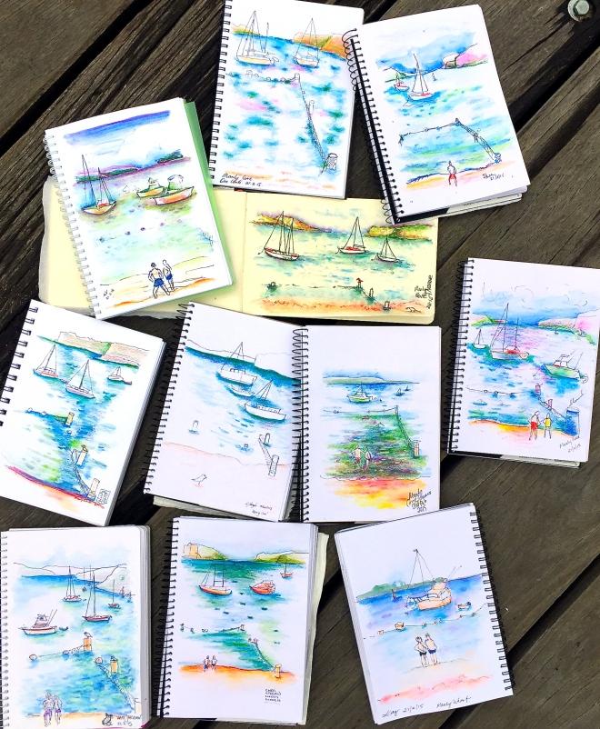 Saturday. Sea & Sand sketches