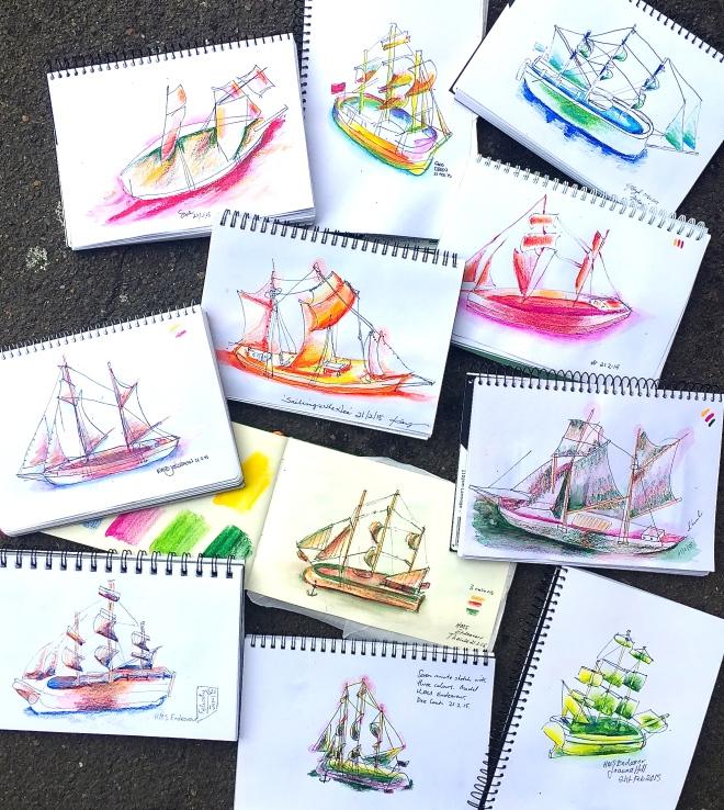 Saturday Ship Sketching