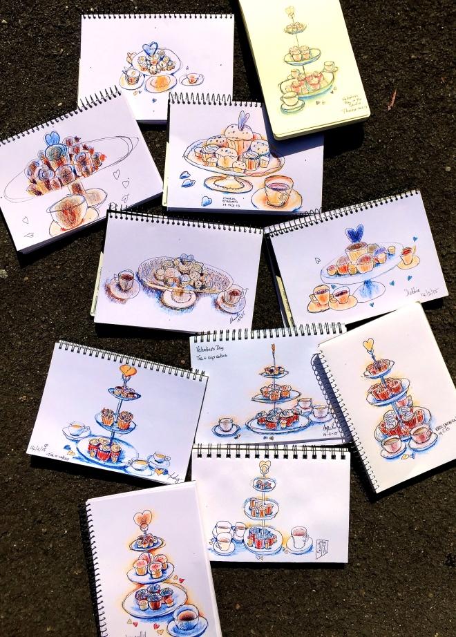 Saturday Valentines Sketches