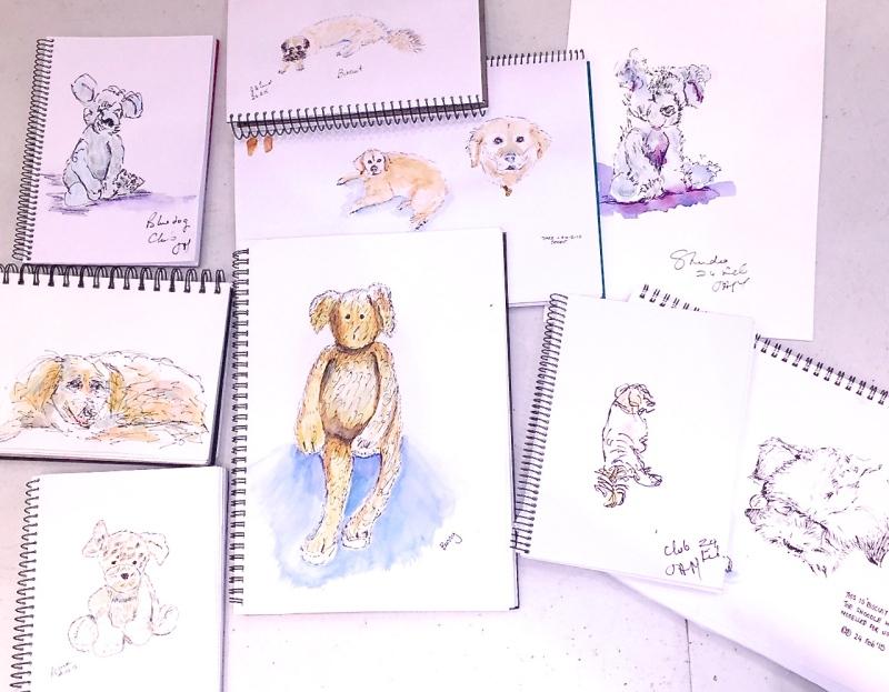 Sketch&Wine Furry animals