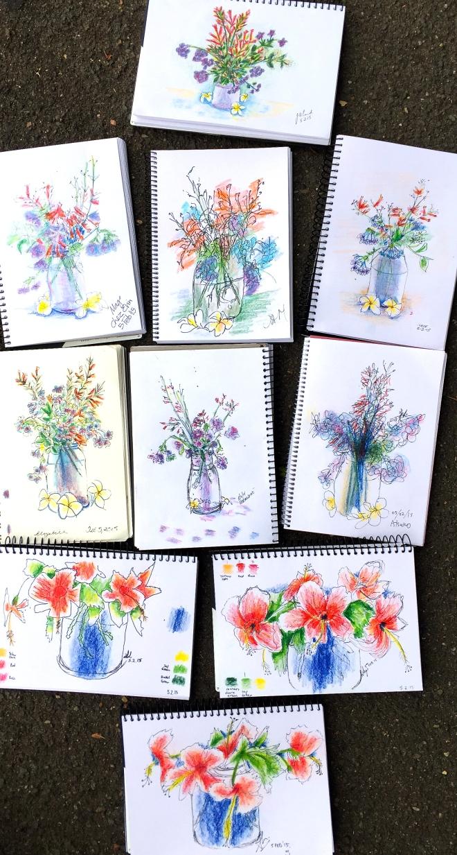 Thursday Flower sketches