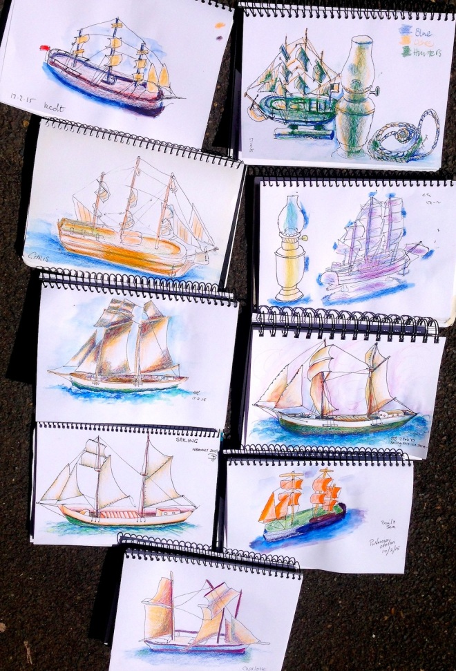 Tuesday. Sailing ship sketches Image 14