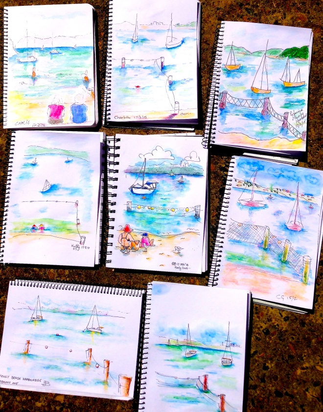 Tuesday. Sketching the sea