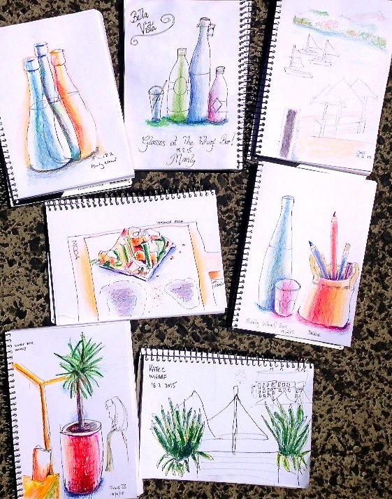 Wednesday. Manly Wharf Hotel bistro sketches