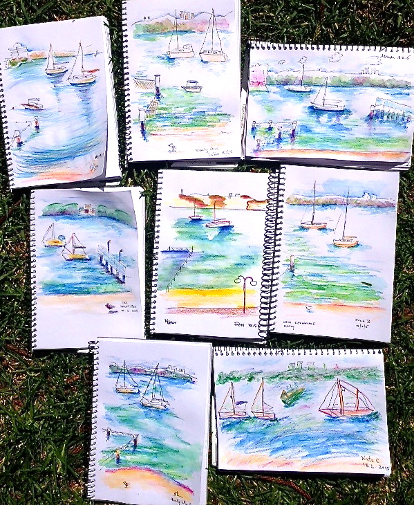 Wednesday Water sketches