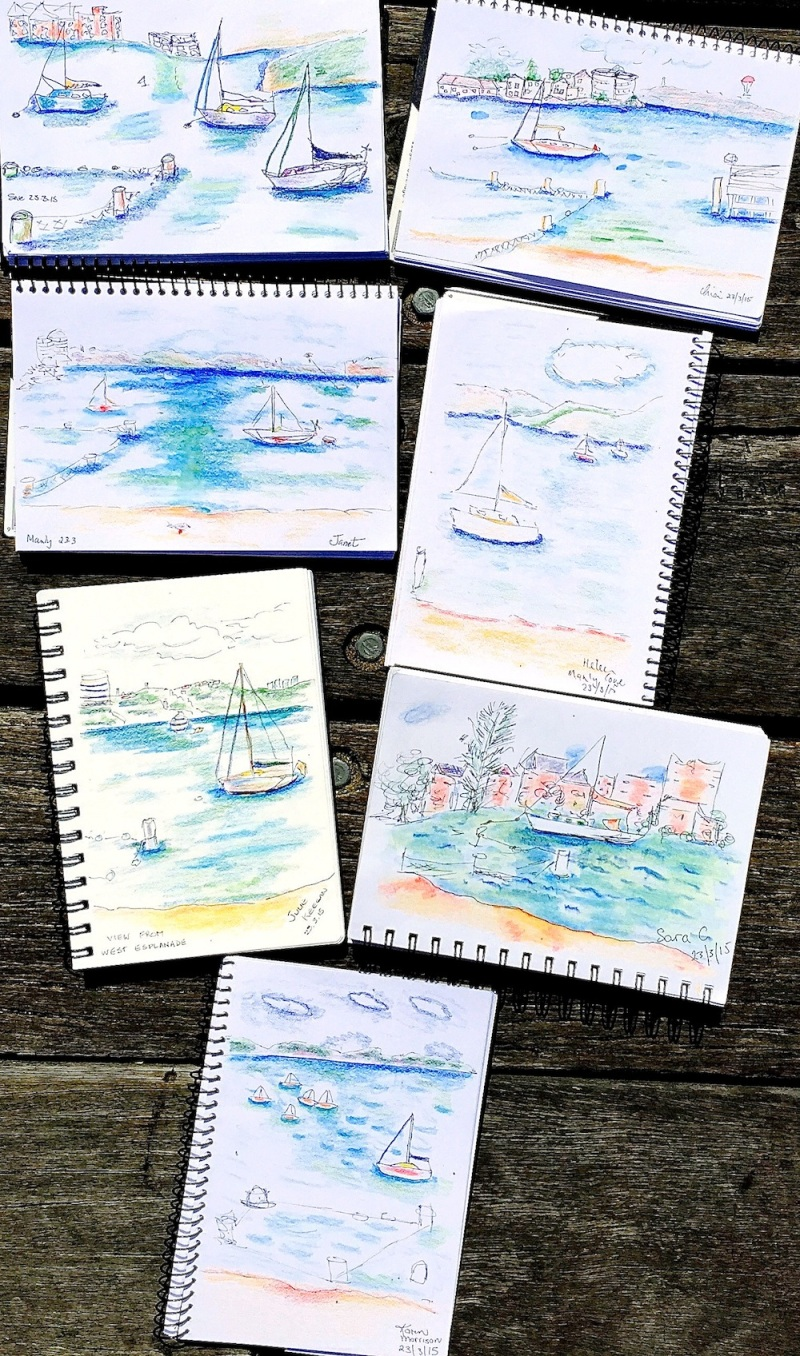 Monday. Sailing sketches