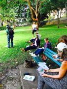 Sat Intensive. Sketching in the park