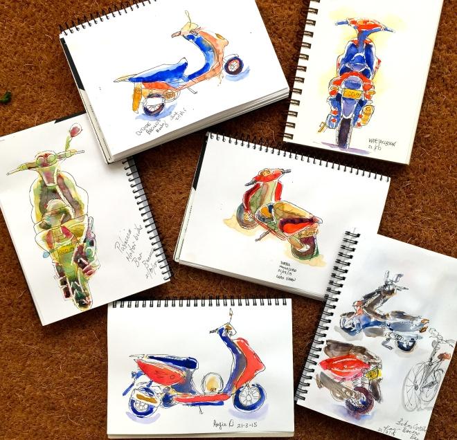 Saturday Motorcycle sketches