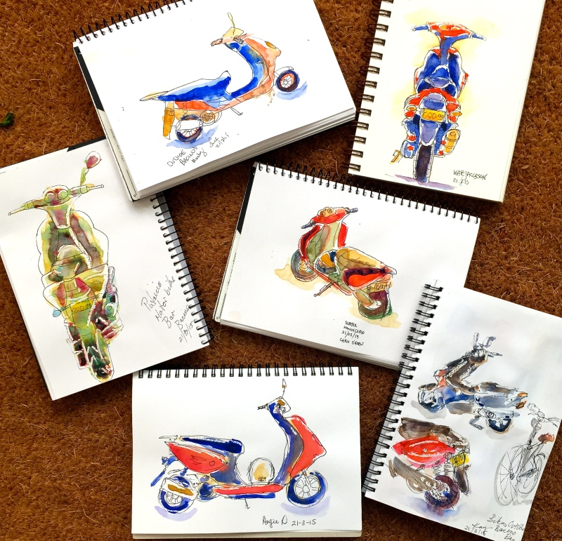 Saturday Motorcycle sketches