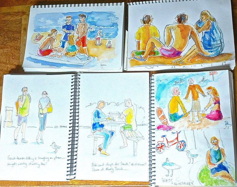 Wednesday beach sketches