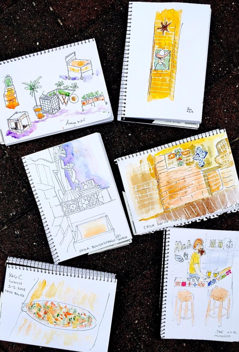 Wednesday Chica Bonita sketches