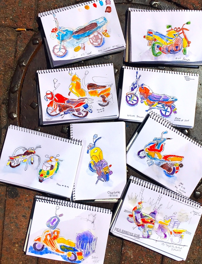 Wednesday Motorcycle sketching