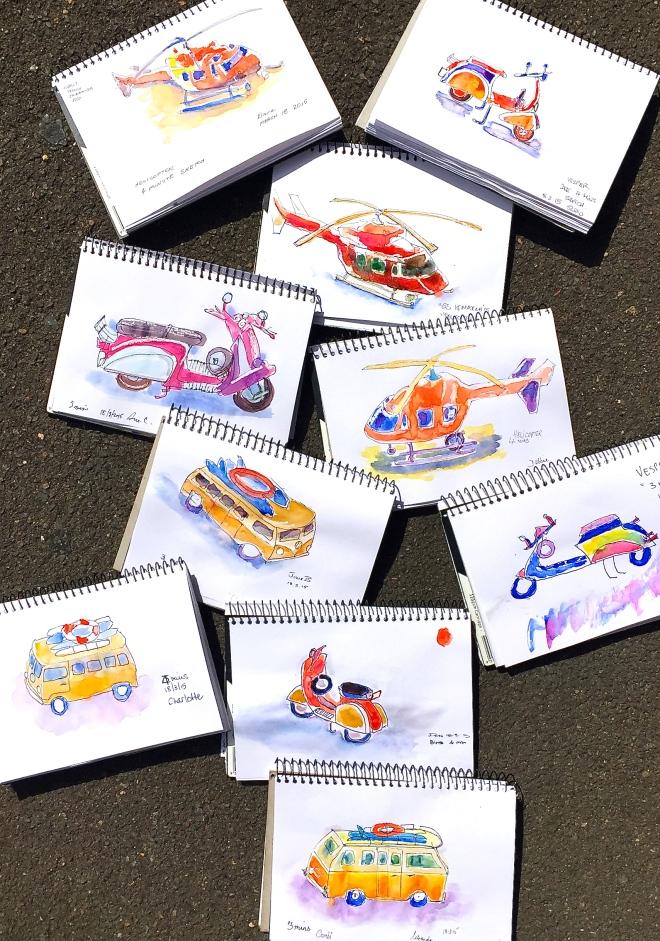 Wednesday Transport sketches