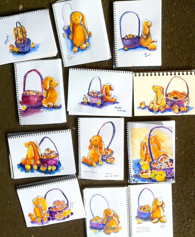 Friday. Easter sketches
