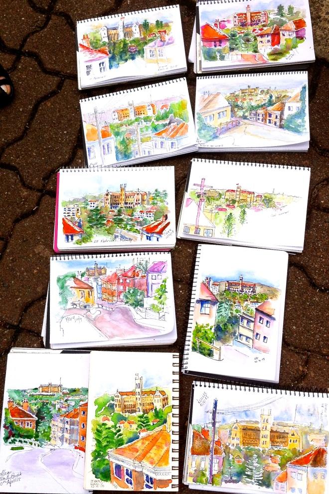 Friday. St Patricks sketches