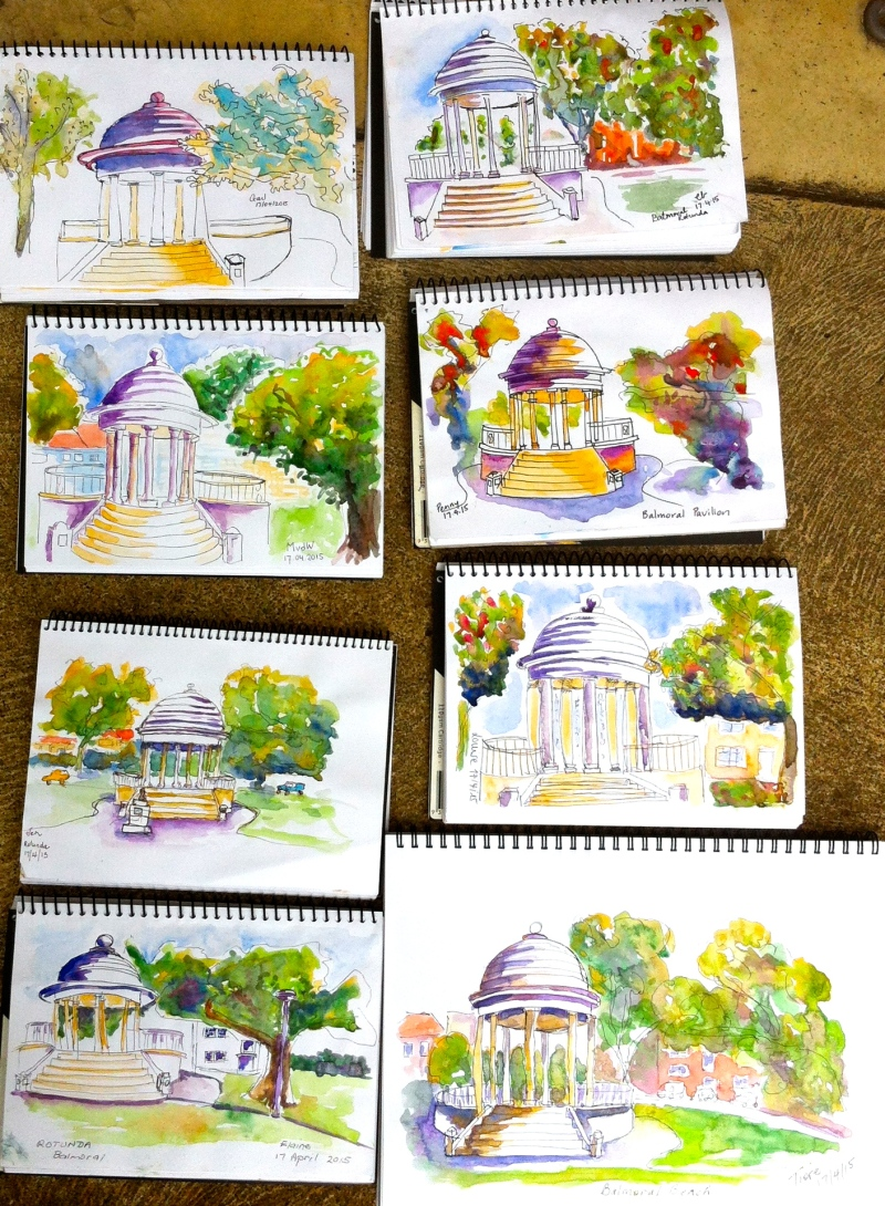 Friday. The rotunda sketches