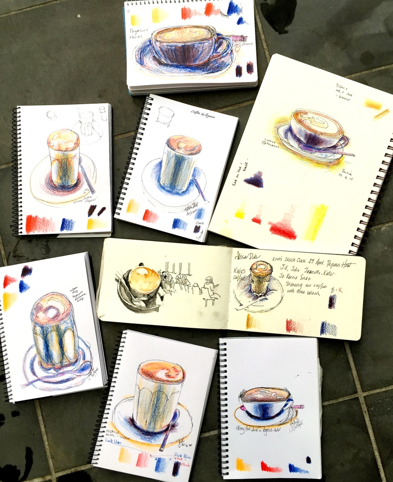 Melbourne Coffee sketches
