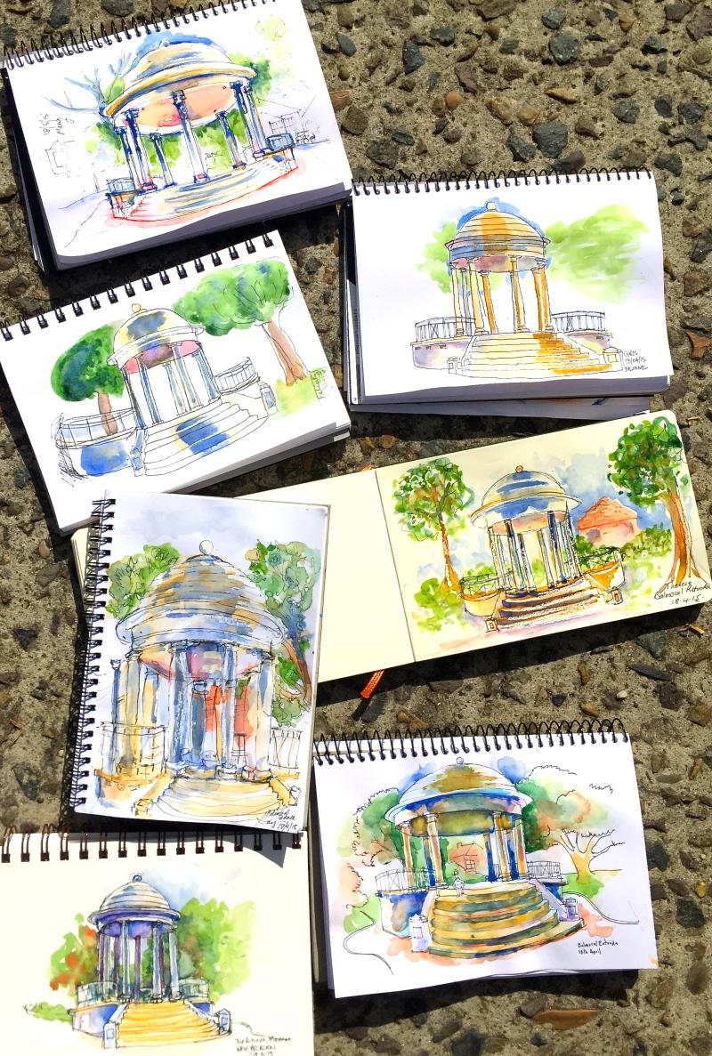 Saturday. Rotunda sketches