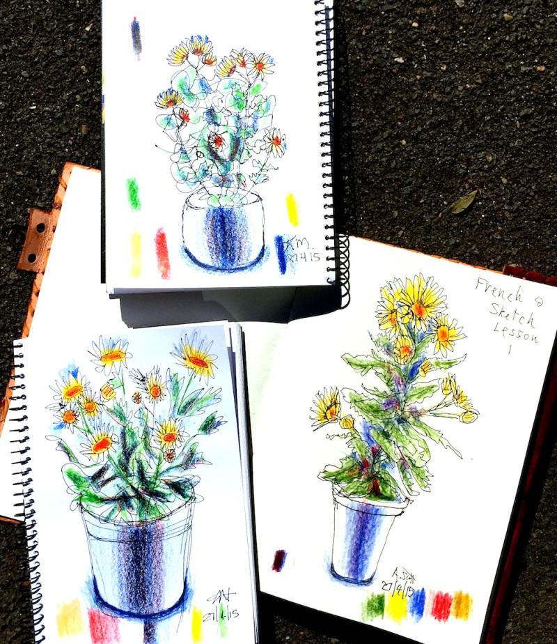 S&F. Yellow pots