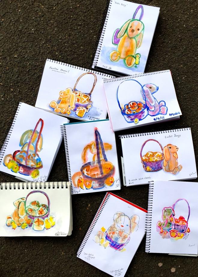 Thursday. Easter sketch