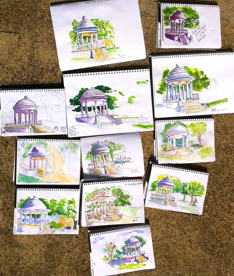 Thursday. Rotunda sketches