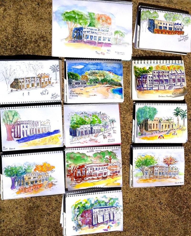 Thursday. The Bathers Pavilion sketches