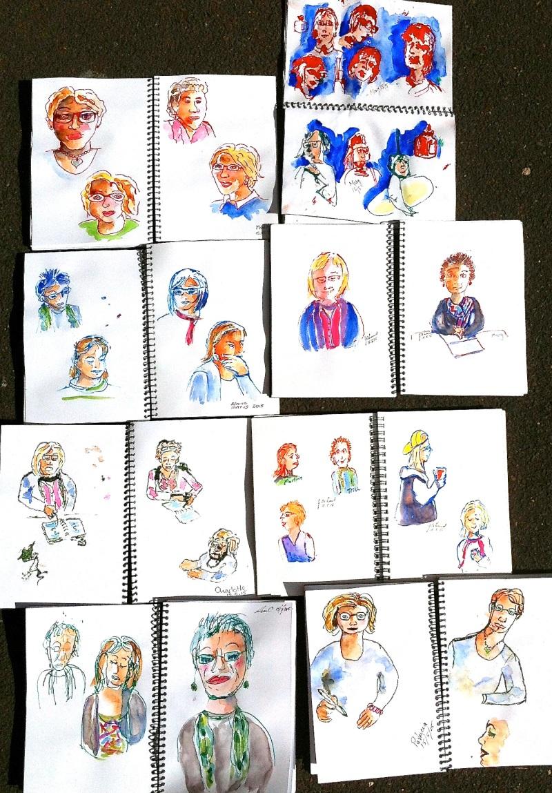 Friday. Studio sketches