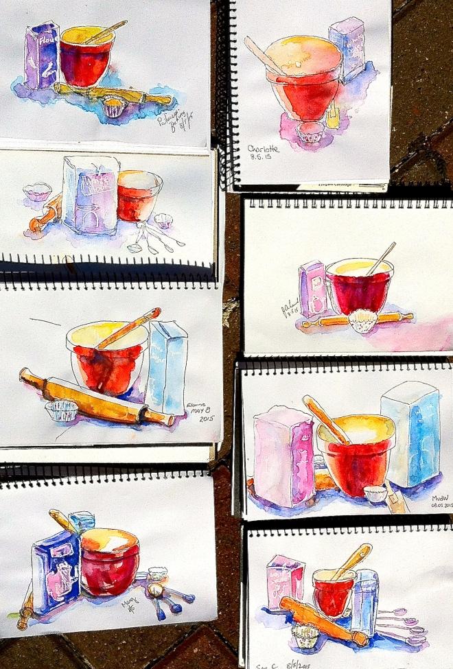 Friday. Watercolour,