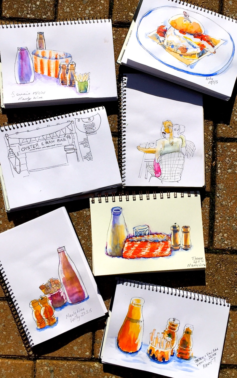 Saturday. Manly Wine sketches