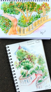 Thursday. 2 more garden sketches