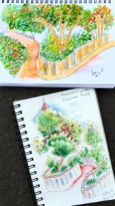 Thursday. 2 more garden sketches