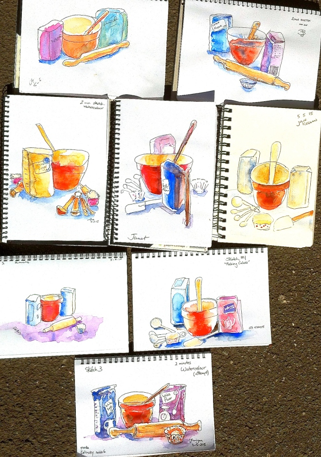 Tuesday. Baking Sketches