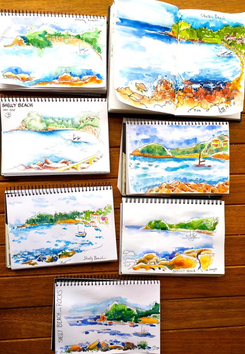 Tuesday. Composition seascape