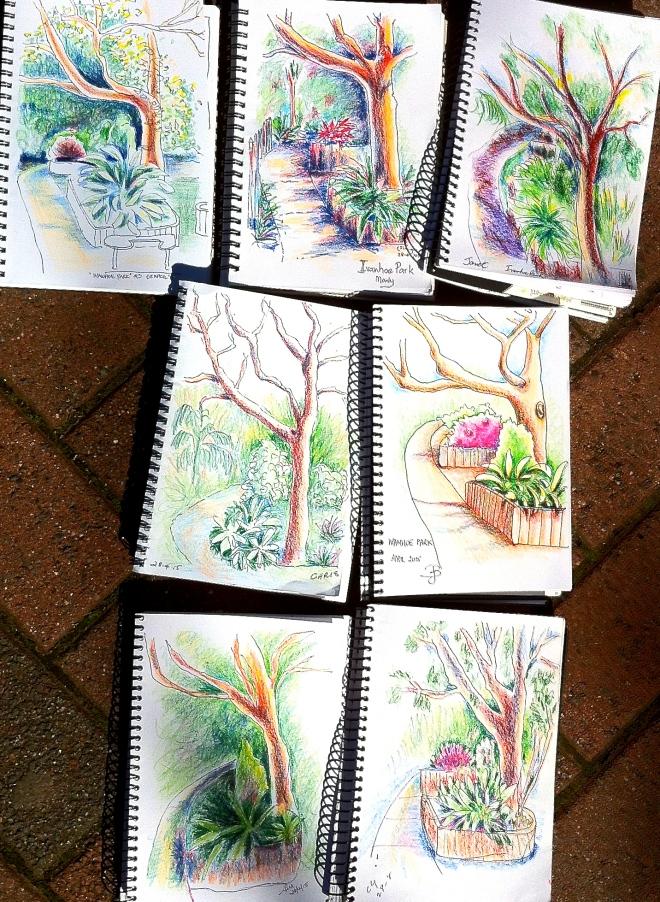 Tuesday. Garden paths