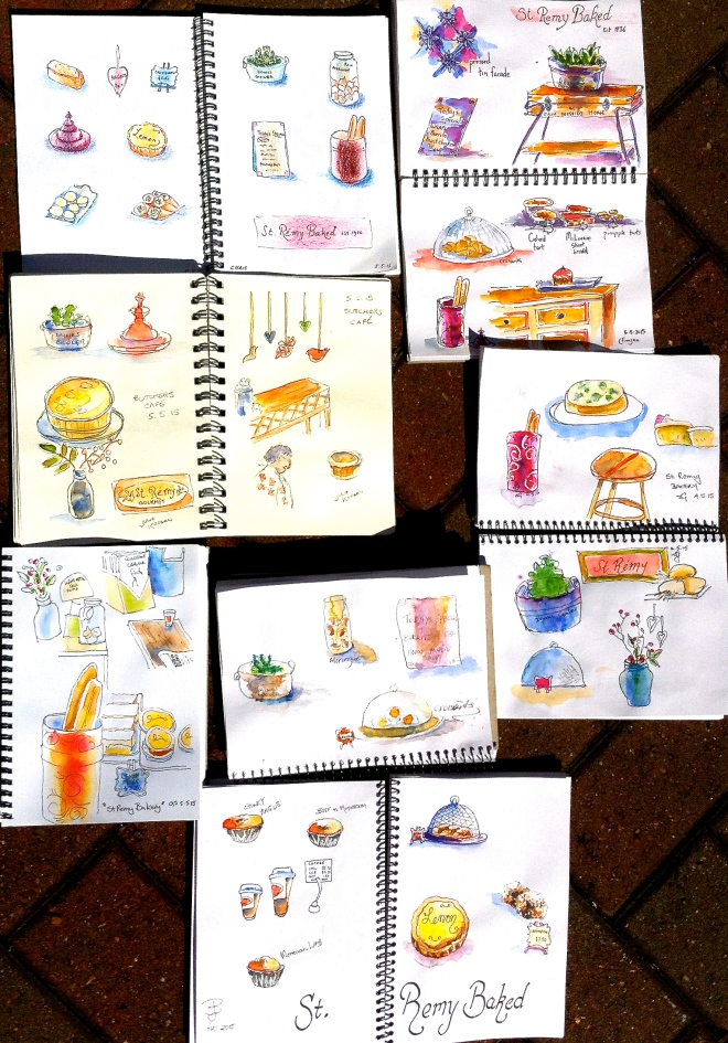 Tuesday. St Remy Baked sketches