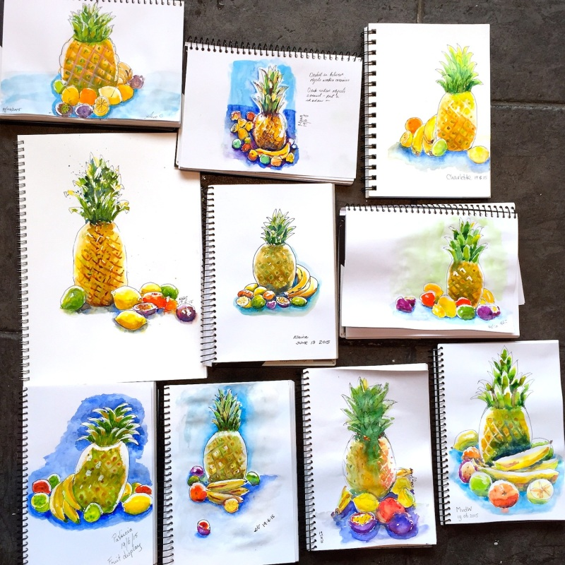 Friday Tropical fruit sketches