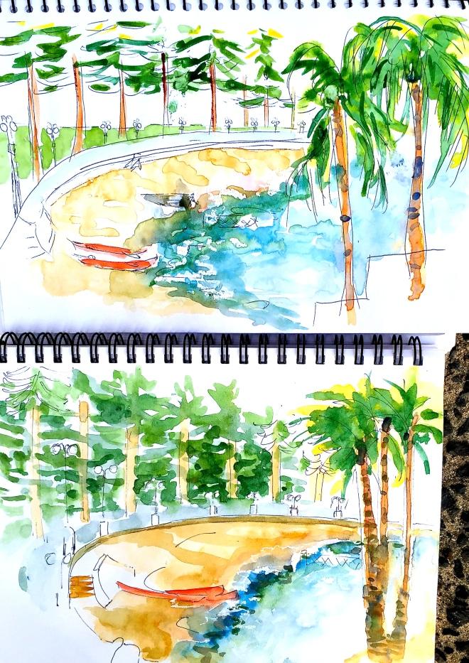 Saturday Intensive. beach sketch
