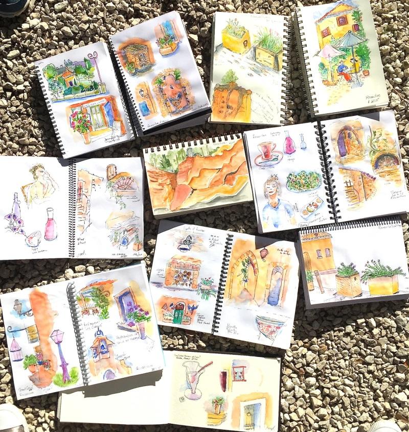 Saturday. Roussillon sketches